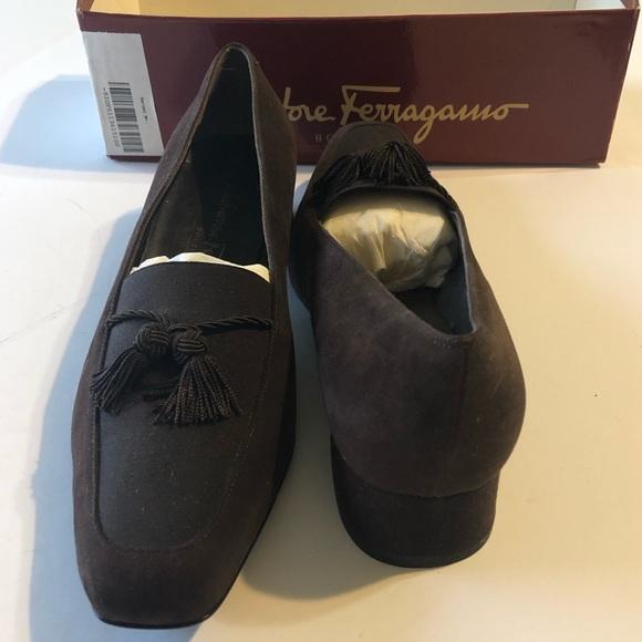 6f3488c89f182 Salvatore Ferragamo Shoes | Ferragamo Poker Brown Suede Heel Nib ...